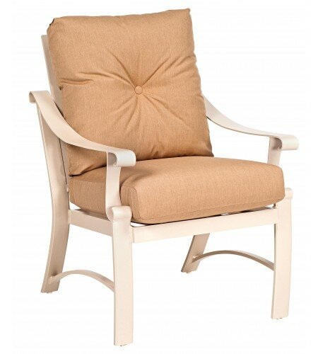 Bungalow Patio Dining Chair with Cushion by Woodard