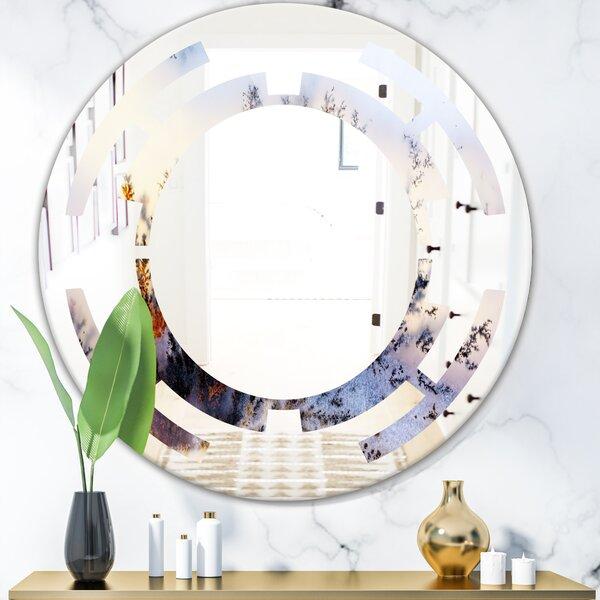 Hexagon Star Crystal Stones Industrial Wall Mirror