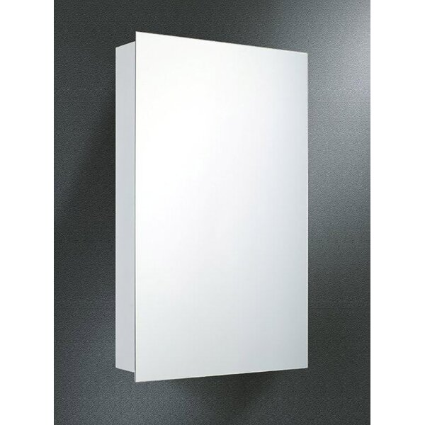 Theon Edge Mirror Door 20 x 14 Surface Mount Frameless Medicine Cabinet by Symple Stuff