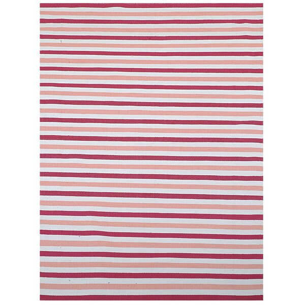 Pink Stripe Indoor/Outdoor Area Rug by Home & More