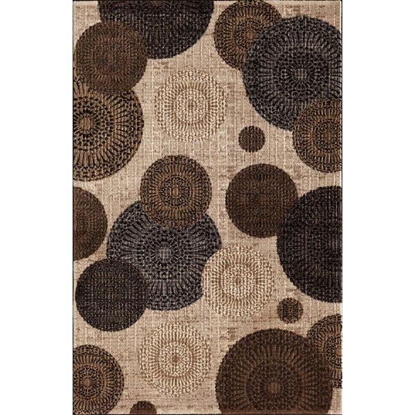Hettick Chandler Beige Brown/Gray Area Rug by Winston Porter