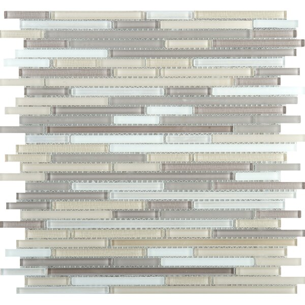 Infinity Random Sized Glass Mosaic Tile in Aeon by Emser Tile
