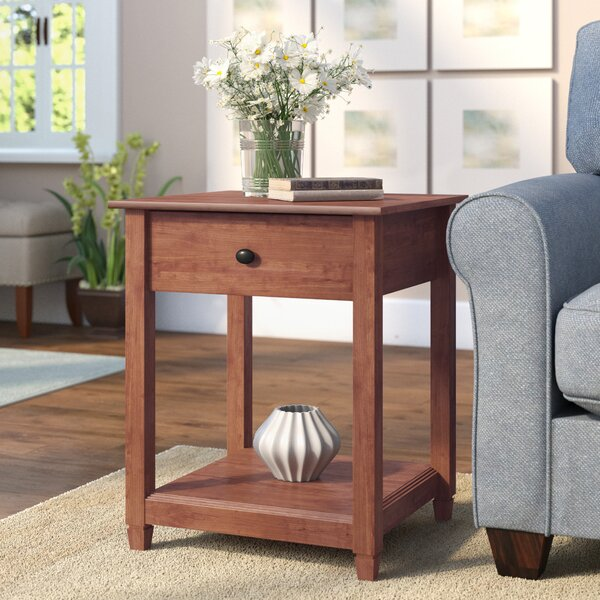 Lamantia End Table with Storage  by Three Posts