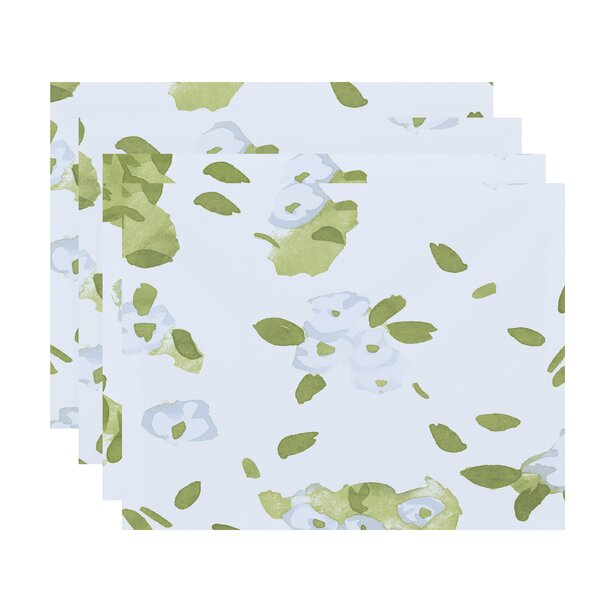 Forget Me Not Collage Floral Print 18 Placemat (Set of 4) by e by design