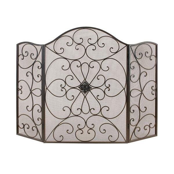 Sale Price 3 Panel Metal Fireplace Screen