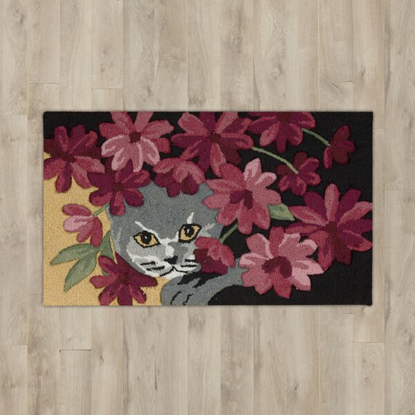 Arpdale Black Cat Area Rug by Charlton Home
