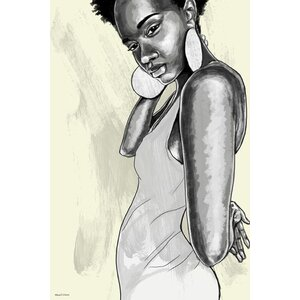 'Natural Afro' Painting Print on Wrapped Canvas by Maxwell Dickson