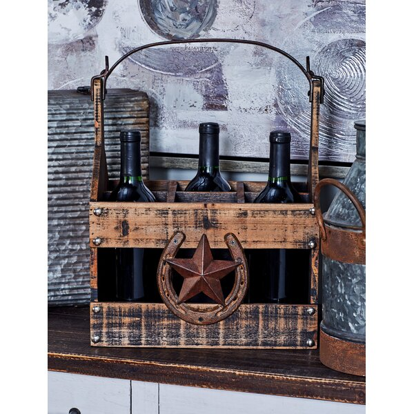 Farmhouse 6-Bottle Tabletop Wine Holder by Cole & Grey