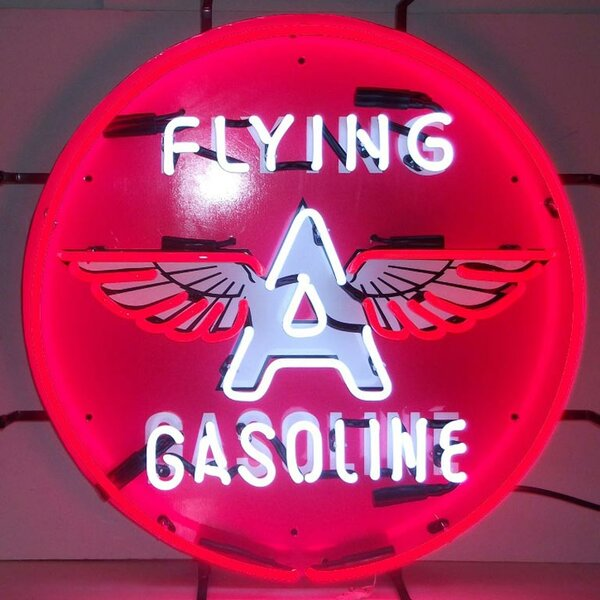 Flying A Gasoline Neon Sign by Neonetics