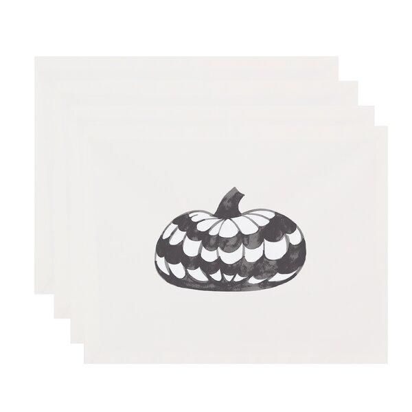 Maser Pumpkin Halloween 18 Placemat (Set of 4) by The Holiday Aisle