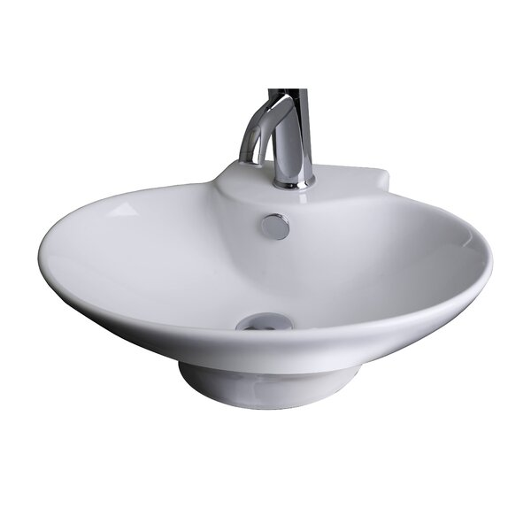 Ceramic 23 Wall Mount Bathroom Sink with Overflow by American Imaginations
