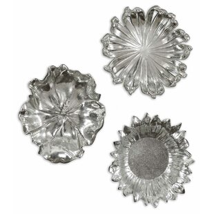 3 Piece Metal Flower Wall Décor Set