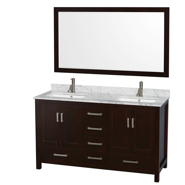 Sheffield 60 Double Bathroom Vanity Set with Mirror