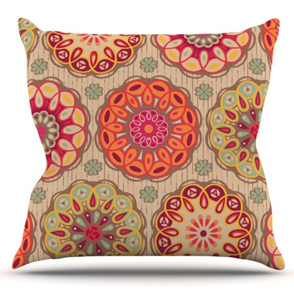 Festival Folklore by Suzie Tremel Outdoor Throw Pillow by East Urban Home