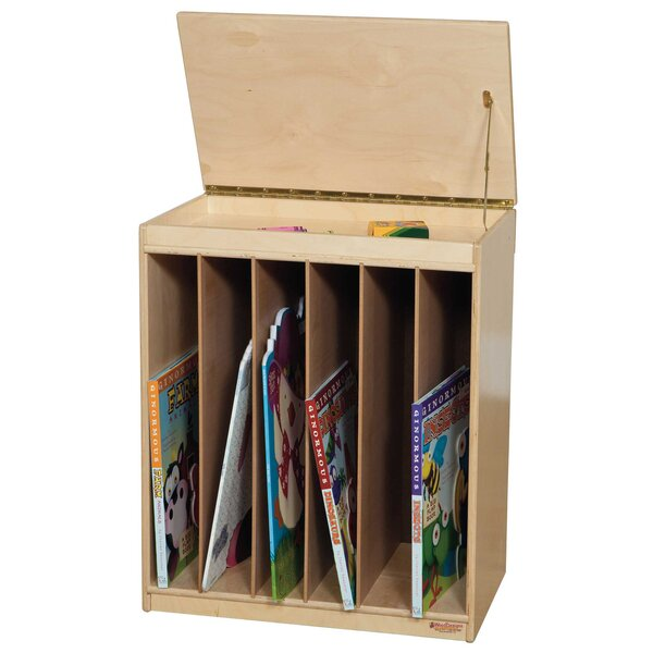 6 Compartment Book Display by Wood Designs