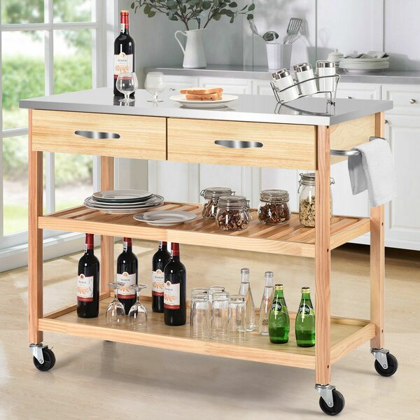Gillies Rolling Kitchen Cart by Charlton Home