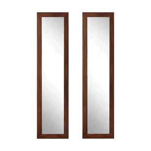 Budget Tressa Embossed Steel Full Length Mirror (Set of 2) By Union Rustic