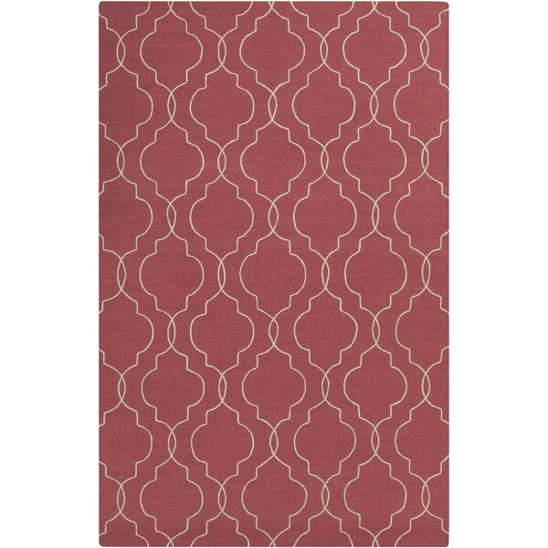 Packard Hand Woven Wool Red Area Rug by Darby Home Co