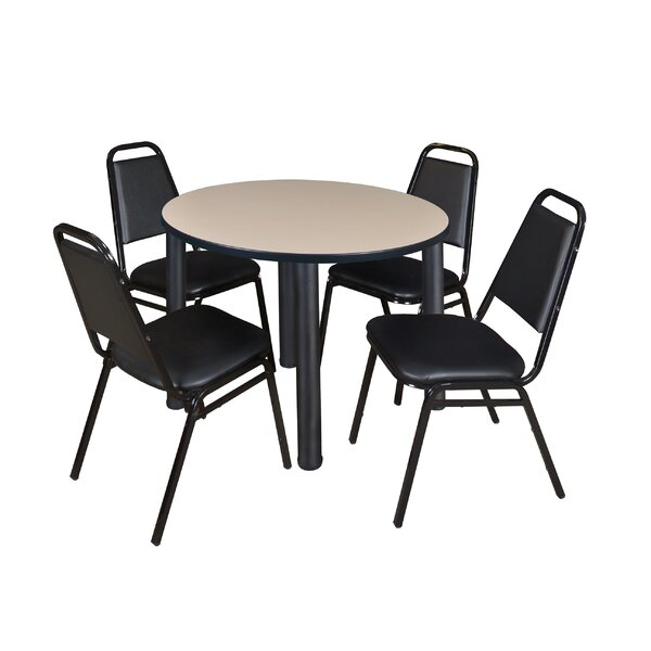 Leiser 5 Piece Round Breakroom Table Set by Symple Stuff