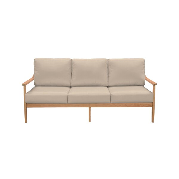 Alton Teak Patio Sofa with Sunbrella Cushions by Union Rustic