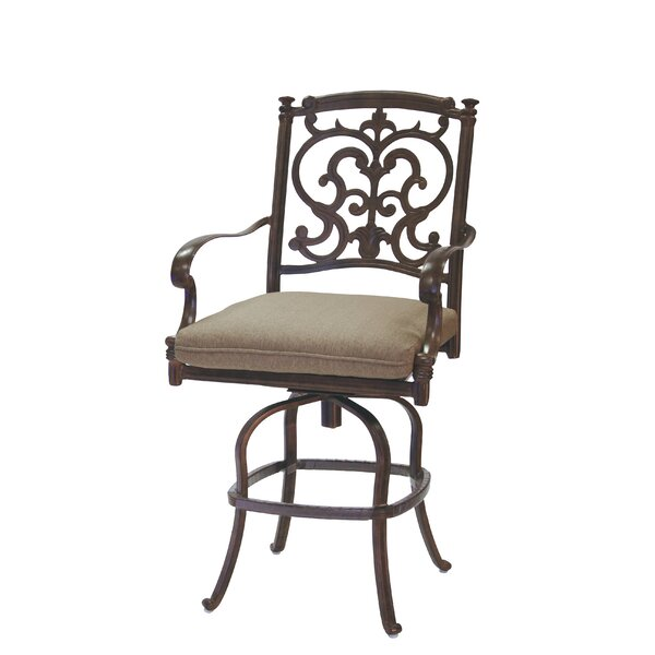 Bergen 25 Patio Bar Stool with Cushion by Astoria Grand