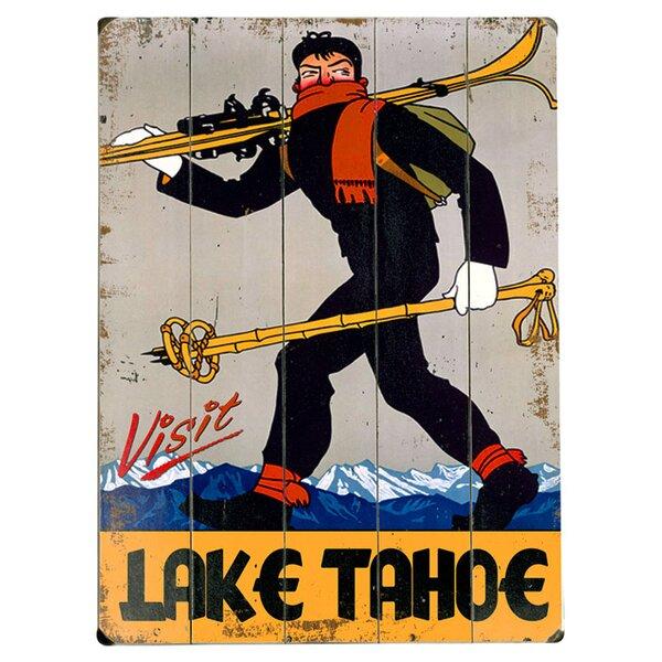 Lake Tahoe  Vintage Advertisement Multi-Piece Image on Wood by Artehouse LLC