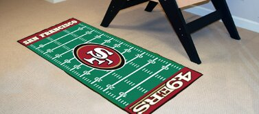 NFL - San Francisco 49ers Football Field Runner by FANMATS