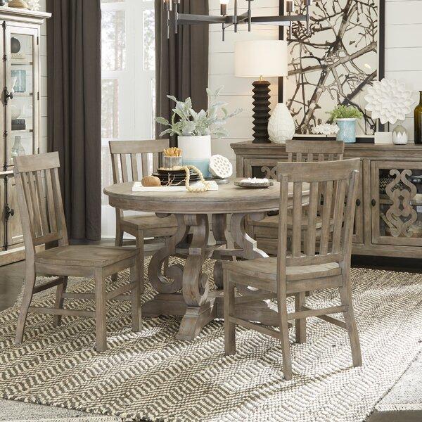 Ellenton 5 Piece Solid Wood Dining Set by Greyleigh Greyleigh