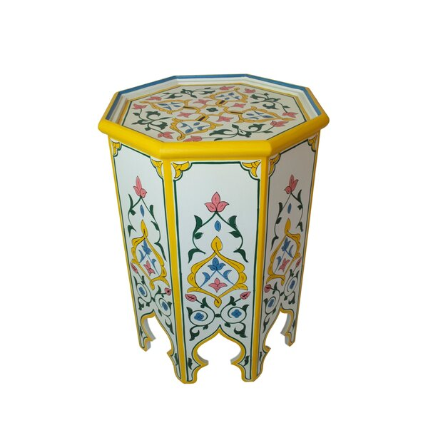 Meknes Hand-painted Side Table by Casablanca Market