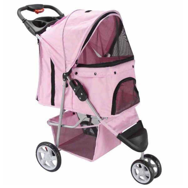 Foldable Standard Pet Stroller by OxGord