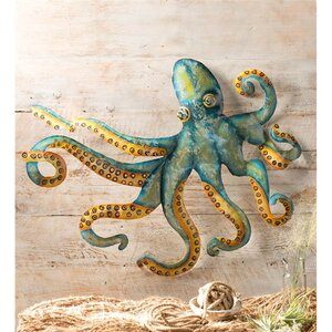 Handcrafted Metal Octopus Wall Décor by Wind & Weather