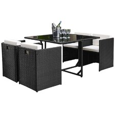 Margo 5 Piece Outdoor Dining Set With Cushionmodern Outdoor Dining Sets Allmodern