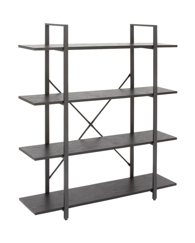 """cole & grey metal and wood 55"""" etagere bookcase & reviews 