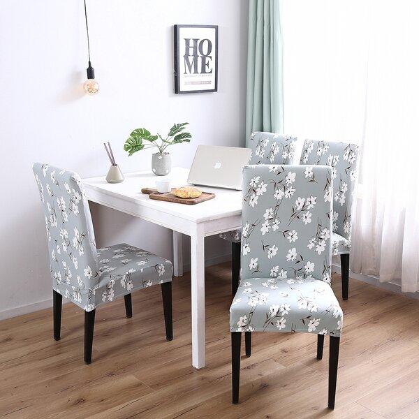 Elegant Box Cushion Dining Chair Slipcover (Set Of 4) By Winston Porter