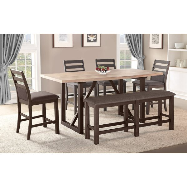 Modern  Clogh 6 Piece Pub Table Set By Gracie Oaks Read Reviews