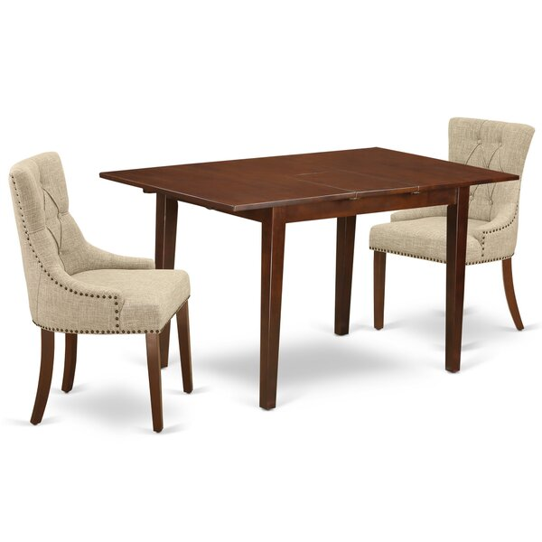 Isse 3 Piece Solid Wood Dining Set by Winston Porter Winston Porter