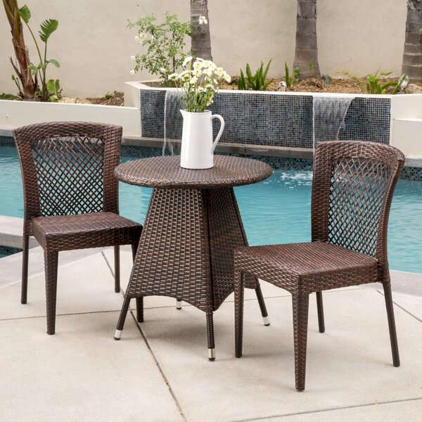 Izaguirre 3 Piece Bistro Set by Bungalow Rose