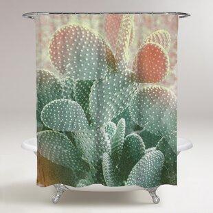 Pinecrest Blushing Cactus Shower Curtain