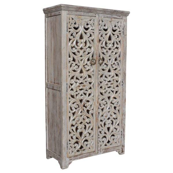 Konen Hand Carved Armoire By Bungalow Rose by Bungalow Rose Great Reviews