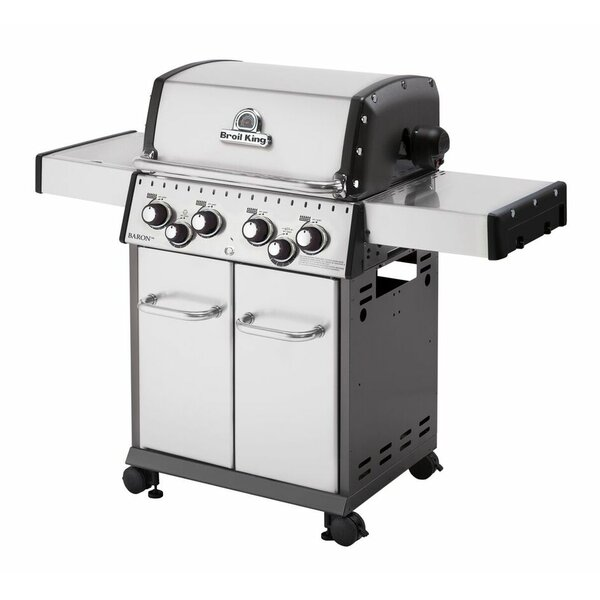 Baron 4-Burner Gas Grill with Side Burner by Broil King