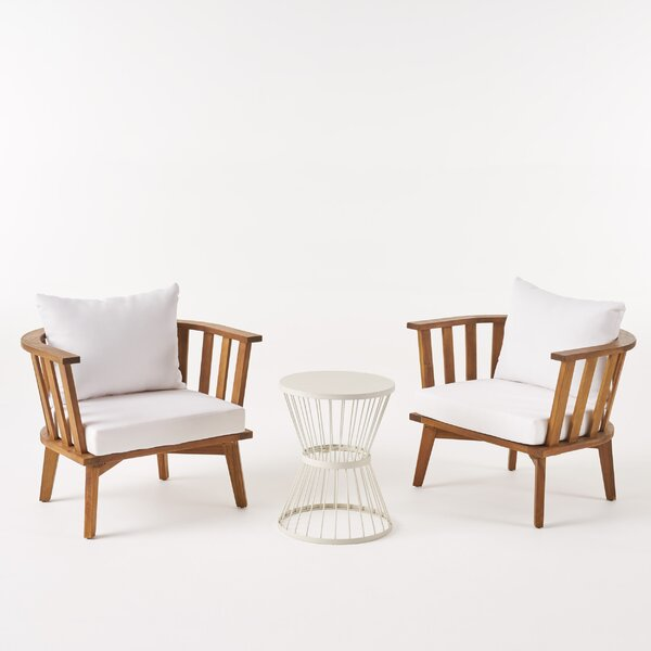 Reichenbach 3 Piece Seating Group with Cushions by Highland Dunes