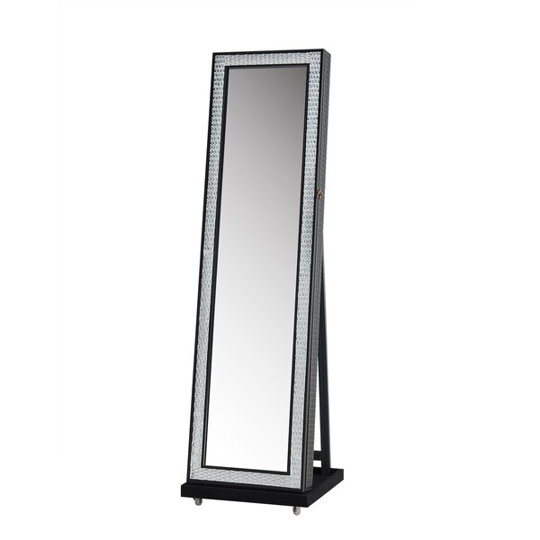 Jewelry Armoire with Mirror by Jeco Inc.