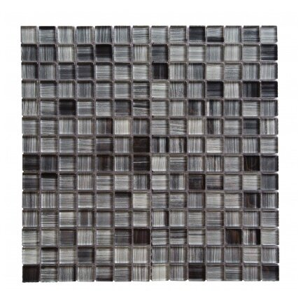Handicraft II 0.75 x 0.75 Glass Mosaic Tile in Glazed Calligrahpy by Abolos