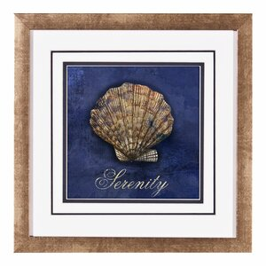 Blue Coastal IV Framed Graphic Art Print by PTM