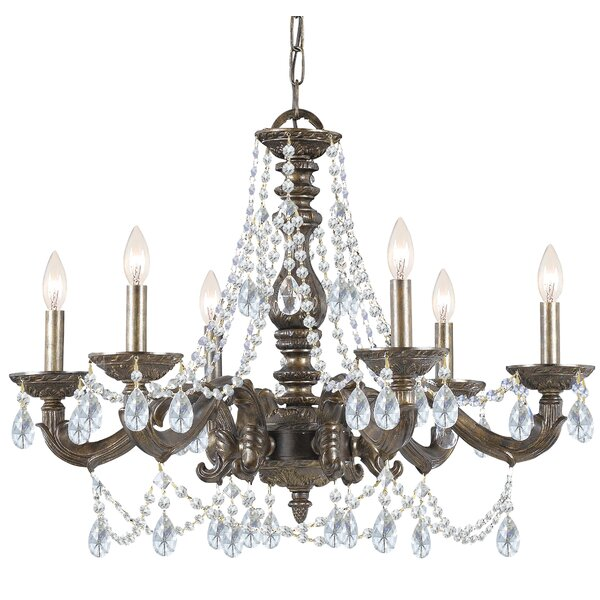 Odessa 6 - Light Candle Style Classic / Traditional Chandelier By Viv + Rae