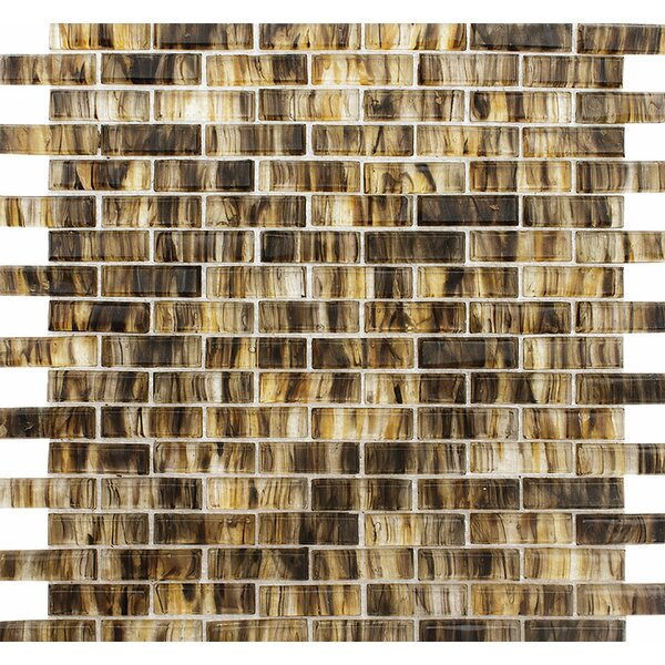 Stockton Brick 0.625 x 2 Glass Mosaic Tile by Parvatile