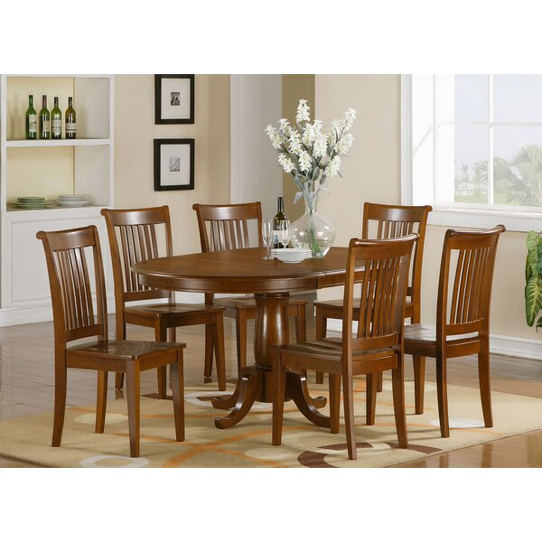 Portland 7 Piece Extendable Dining Set by East West Furniture