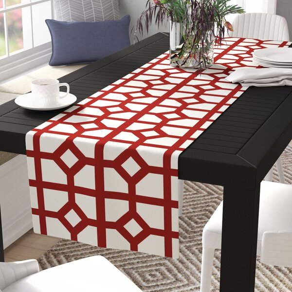 Menzel Geometric Print Table Runner by Mercury Row