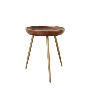 Boley Wood and Metal Tray Table by Ivy Bronx