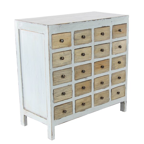 Goulds 20 Drawer Accent Chest by Rosecliff Heights
